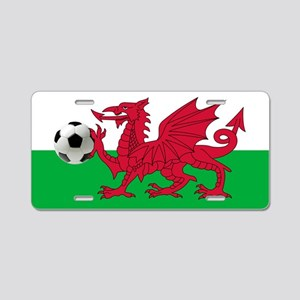 Wales Football Flag Aluminum License Plate
